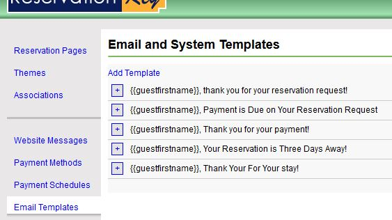 Reservationkey frequently asked questions we create generic templates for new accounts they can be viewed under website tab email templates as seen here maxwellsz